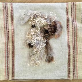 Pet portrait cushion - like how the colo