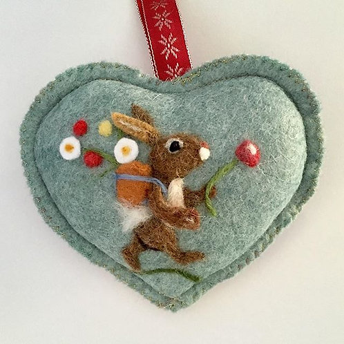 Wholesale Meadow Rabbit Heart ~ personalised gift heart
