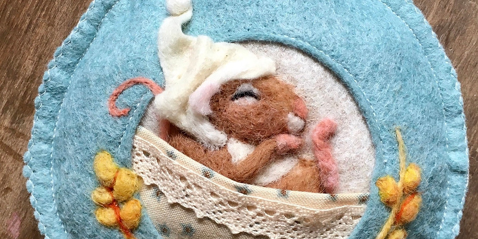 sold out - Needle felt workshop  sleeping animal - this event is now full