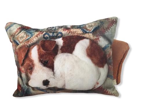 Sleeping dog velvet feel pillow