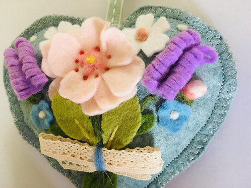 Flower Bouquet ~ personalised gift heart, personalized gi