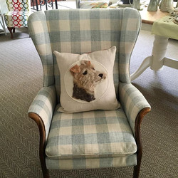Newly upholstered chair by Caroline arri