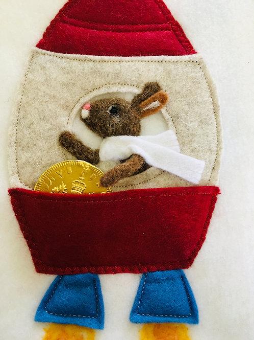 Rocket Rabbit Tooth Pillow