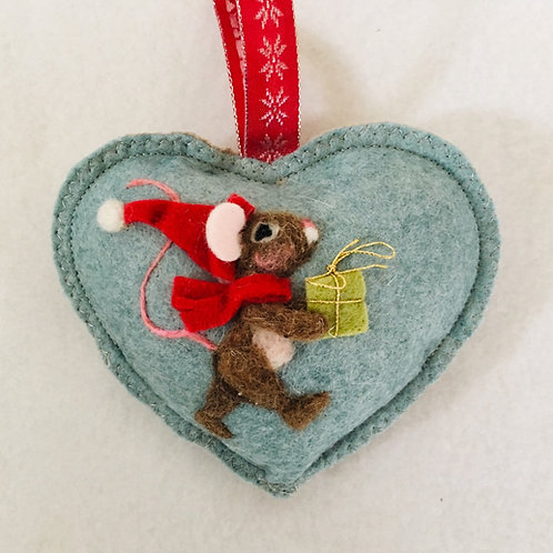 Elf with a present ~  personalised gift heart