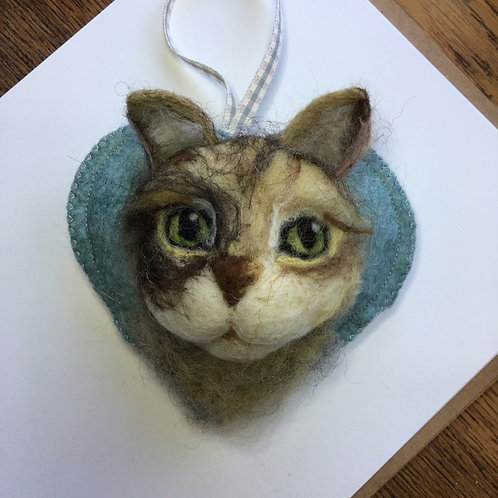 Your own cat Heart ~  personalised gift heart