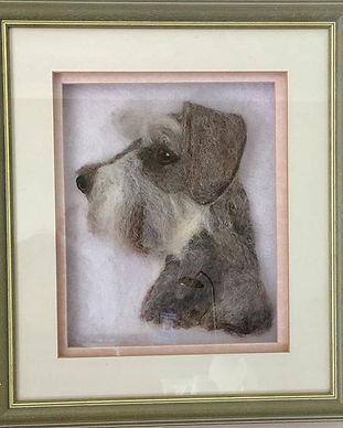 Pet sculpture portrait in deep frame #sc