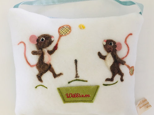 Tooth Fairy Pillow Tennis mice