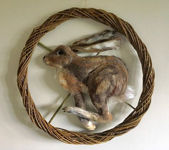 Hare in the Willow Moon #needlefeltsculp