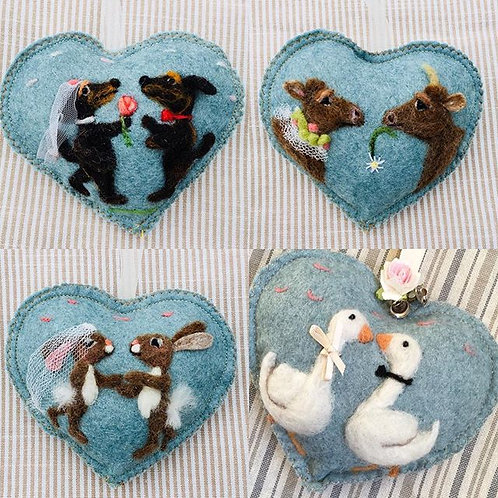 Geese wedding Heart~  personalised gift heart