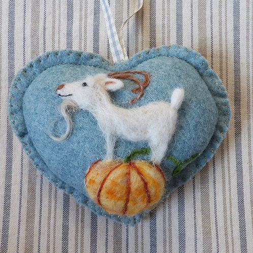 Pumpkin Goat~ personalised gift heart, personalized gi