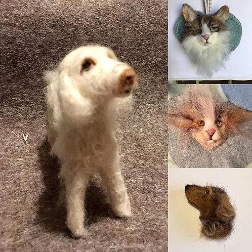 Dog Sculpture pet portrait