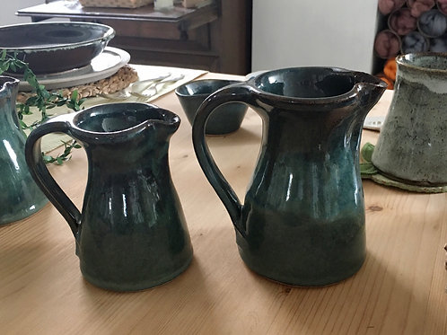 Teal glaze Jug - hand thrown artisan ceramic