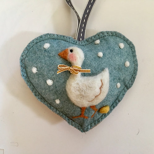 Goose laying golden egg ~ personalised gift heart