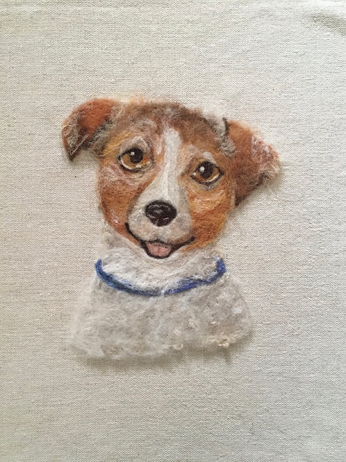 Dog Portrait Picture - Your own dog mounted on board ready to frame