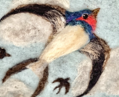 swallow felted picture wall art