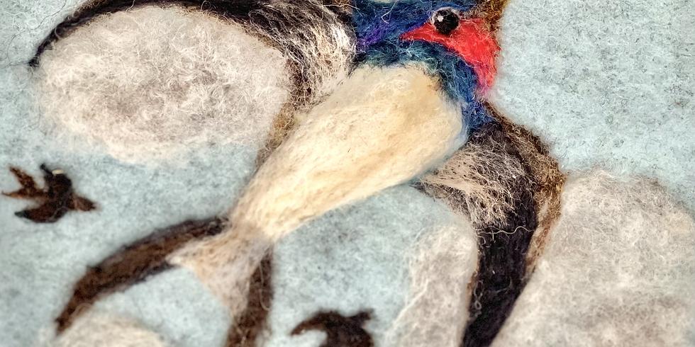Bird felting workshop