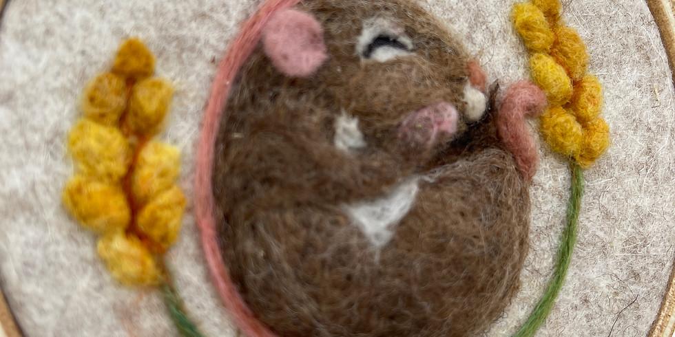 Sleeping animals - needle felting workshop