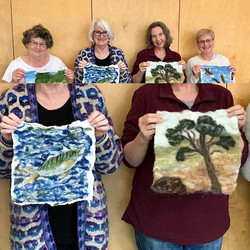 Some wonderful Wet felted pictures by so