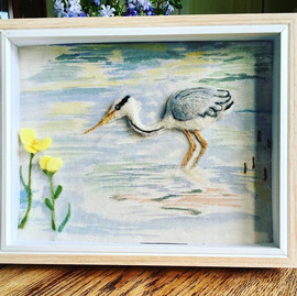 Heron on canvas study for #somersetcraft