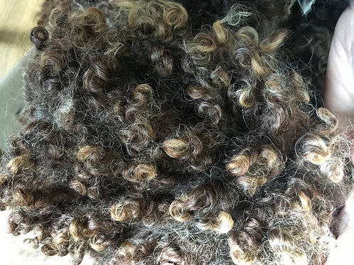 Curly wool locks Brown 30g