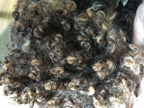 Curly wool locks Brown 30g