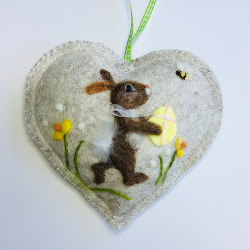 Easter Rabbit Heart ~ personalised gift heart