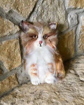 Kitten felted feature #newfeltingideas #