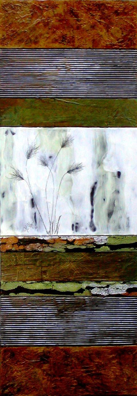 Rustic Landscape III (17.25X48) Encaustic (2007) $1,000  (KENMORE WINNER)