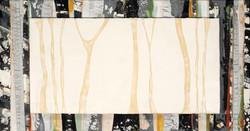 Slash & Burn IX_Encaustic & Burned Duct   Tape_17x32_2014_$1,100