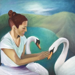 Leda with Two Swans