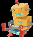 ロボットのおもちゃで遊んで