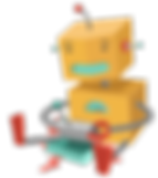 Robot playing with toy