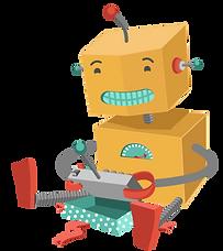 Roboter mit Spielzeug spielen