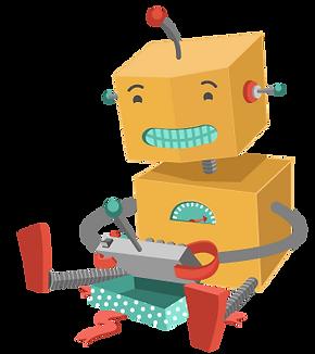 Robô que joga com brinquedo