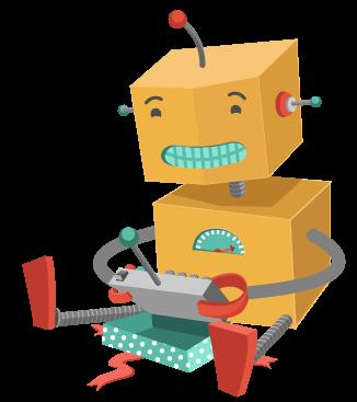 Robot leker med leketøy