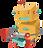 Robot jouer avec des jouets