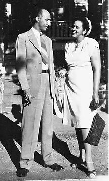 Oliver and Bernie Hill early in their marriage.