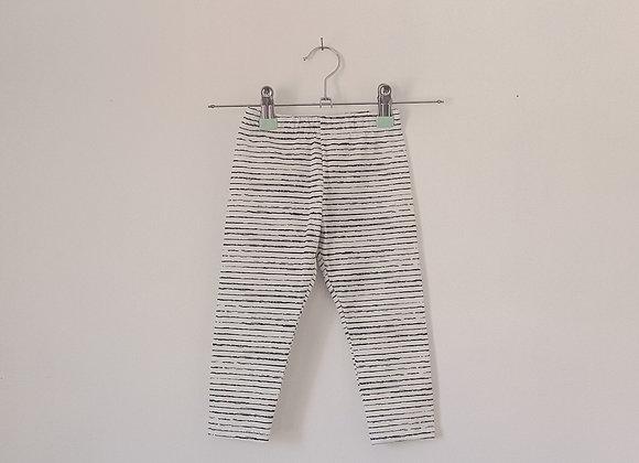 Slim Leggings - Black and White Stripe