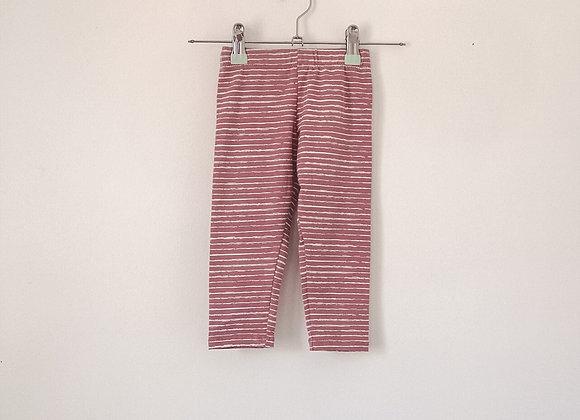 Slim Leggings - Pink and White Stripe
