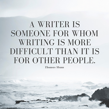 A writer is someone for whom writing is