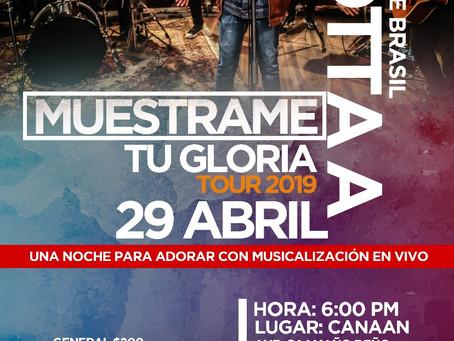Muestrame tu Gloria Tours 2019 Llega a La Romana- Jotta desde Brasil..