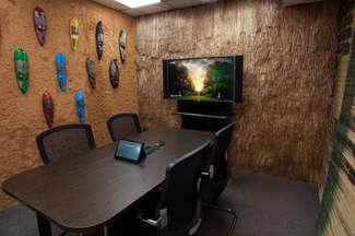 Mud hut themed meeting room
