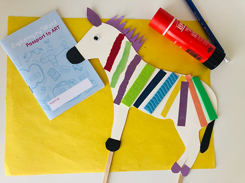 Zebra Paper Puppet