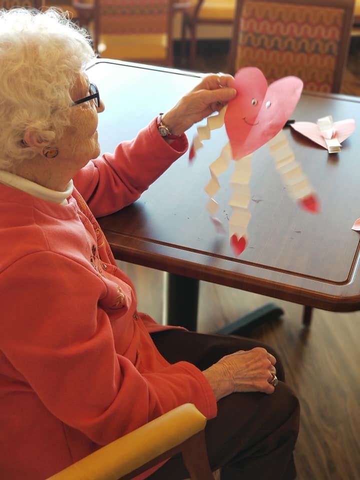 Crazy hearts Valentine's craft