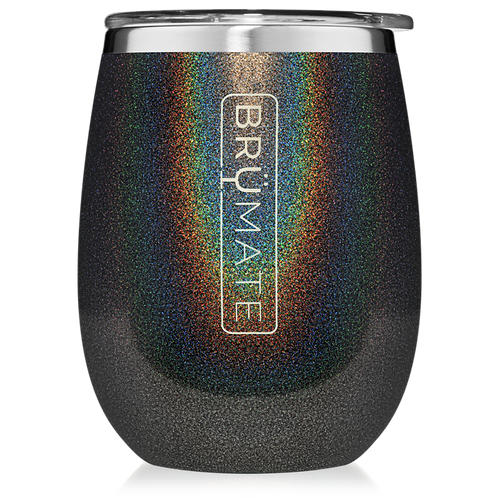 Glitter Charcoal - Uncork'd Wine Tumbler