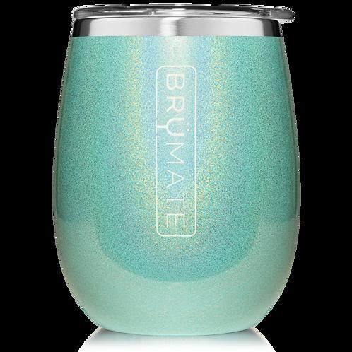 Glitter Aqua Blue - Uncork'd Wine Tumbler