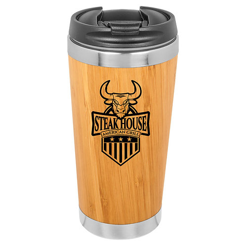 15 oz Bamboo/Stainless Steel Mug