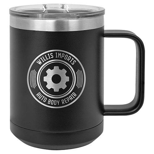 15 oz Vacuum Sealed Stainless Steel Mug with Handle