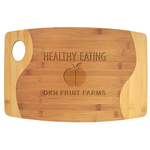 Two-Tone Bamboo Cutting Board with Handle
