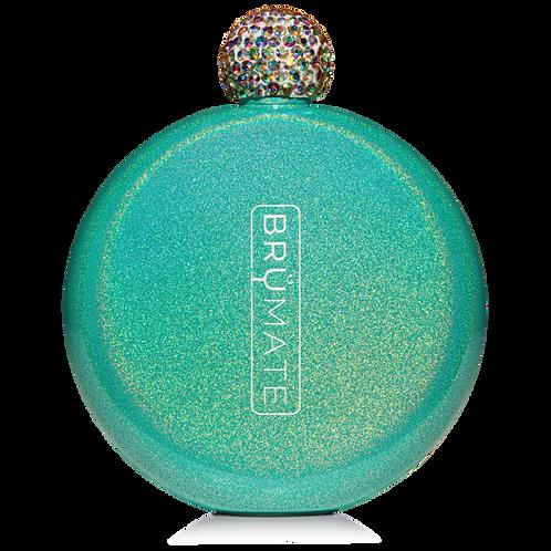 Peacock - Glitter Flask